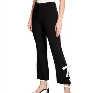 NWT Cinq a Sept   cropped lace-up bootcut pants.